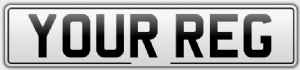 Front Car Number/Registration Plate With Border